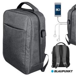 Mochila C/ Porta USB E Jack Cinza - BLAUPUNKT