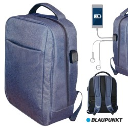 Mochila C/ Porta USB E Jack Azul - BLAUPUNKT