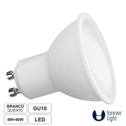 Lâmpada GU10 4W 230V LED Dicróica 3000K 320lm - FOREVER