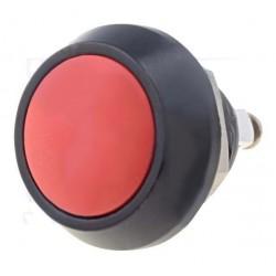 Interruptor de Pressão Anti-Vandalismo Unipolar SPST OFF-(ON) 36VDC 2A P/ Aparafusar - Laranja