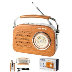 Rádio Bluetooth AM/FM Vintage USB/SD