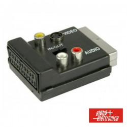Ficha Adapt. Scart - 3 Rca+Scart In-Out
