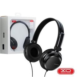 Auscultadores C/ Fios Stereo Preto - XO