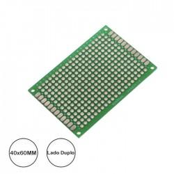 Placa Circuito Impresso 40x60mm Perfurada em Pontos