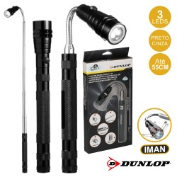 Lanterna 3 LEDS Extensível Magnética Flexível - Dunlop
