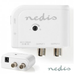 Amplificador Antena C/ Ajuste + 2 Saídas 15dB - Nedis
