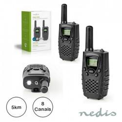 Intercomunicador S/Fios 5km 8 Canais - Nedis