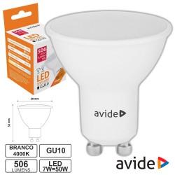 Lâmpada LED GU10 Spot 7W 230V 4000K 506lm AVIDE