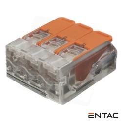 Ligador Rápido c/ Patilha 3 Condutores 0.2-4mm - ENTAC