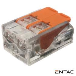 Ligador Rápido c/ Patilha 2 Condutores 0.2-4mm - ENTAC