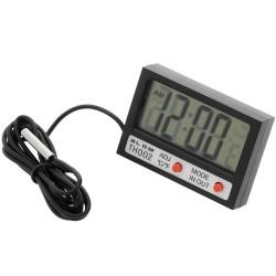 Termometro Digital C/ Relógio (-50ºC .. 70ºC) P/ Painel