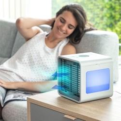 Mini Climatizador A Vapor C/ Luz LED E Depósito 500ml