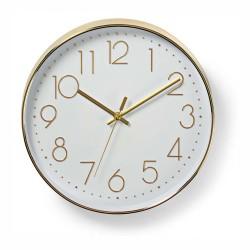 Relógio de Parede Analógico Dourado 30Cm - Nedis