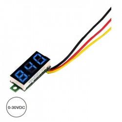"Voltimetro 0-30vdc LED Digital 0.28"" Azul"