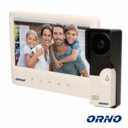 "Video Porteiro Lcd 7"" C/ Display Unifamiliar Branco - Orno"