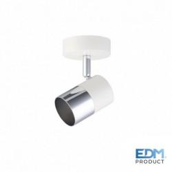Projector Foco Gu10 Orientável P/ 1 Lampada Branco / Prata - EDM