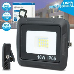 Projector Led 10w 230v Ip65 6000k 800lm Preto