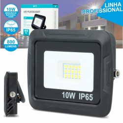 Projector Led 10w 220v Ip65 4500k 800lm Foco Preto