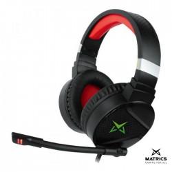 Auscultadores C/ Microfone 2.0 Gaming RGB Preto - Matrics Windfury