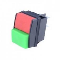 Interruptor de pressão duplo vermelho/verde 2 posições ON-OFF DPST 250VAC 10A - SCI