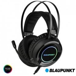 Auscultadores C/ Microfone Gaming RGB - Blaupunkt