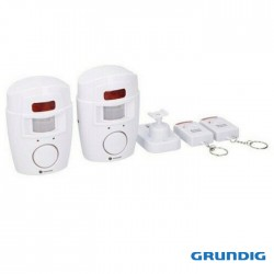Kit 2 Sensores Pir Detector de Movimento + 2 Controladores Remotos - Grundig
