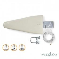 Antena 4G/3G/Gsm Amplificada C/Cabo 7M Ip64 - Nedis