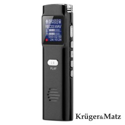 Gravador Reportagem Visor OLED 8Gb - Kruger Matz