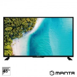 "TV LED 43"" FULL HD 3 HDMI USB Dvb-T/C - MANTA"