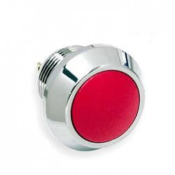 Interruptor Pressão Anti-Vandalismo SPST OFF-(ON) 36VDC 2A 2 Terminais - Vermelho