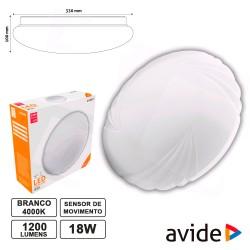 Painel LED 18w 1200lm 4000k Ø330mm - Avide