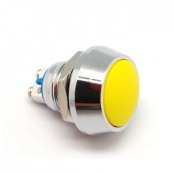 Interruptor Pressão Anti-Vandalismo SPST OFF-(ON) 36VDC 2A 2 Terminais - Amarelo