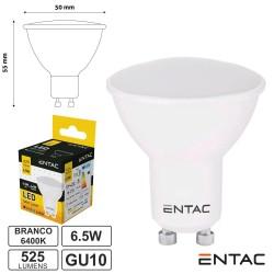 Lampada LED Gu10 6.5w 6400k 525lm - Entac
