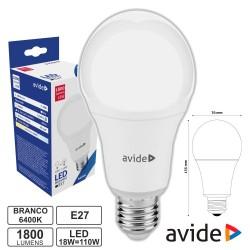 Lâmpada LED E27 18W 6400K - AVIDE