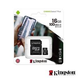 Cartão Memória Micro SDXC 16GB UHS-I Adaptador - KINGSTON