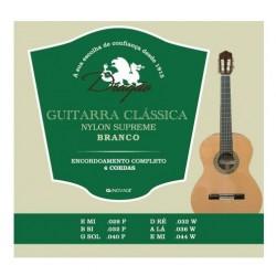 Jogo de 6 Cordas P/ Guitarra Clássica Branco - Dragão