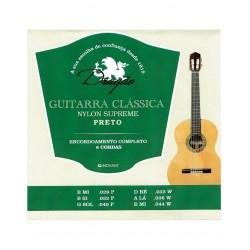Jogo de 6 Cordas P/ Guitarra Clássica Preto - Dragão