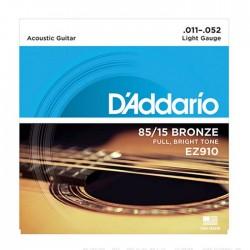 Jogo de Cordas P/ Guitarra Acústica 011-052 - D' Addario