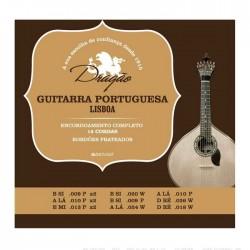 Jogo de 12 Cordas P/ Guitarra Portuguesa Afinação Lisboa - Dragão