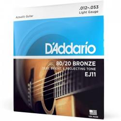 Jogo de Cordas P/ Guitarra Acústica 012-053 - D' Addario