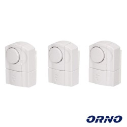 Alarme Mini P/ Portas E Janelas Kit-3