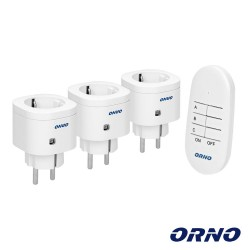 Conjunto 3 Tomadas Elétricas C/ Comando S/ Fios - ORNO