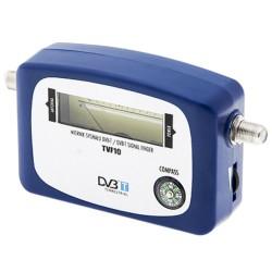 Medidor e Localizador de Sinal TV Digital Terrestre (TDT) C/ Indicador de Nível de Sinal Iluminado
