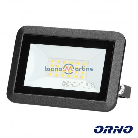 Foco LED 20W 230V 4000k 1600lm Preto - ORNO