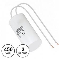Condensador Arranque 2uf / 450v C/ Fios