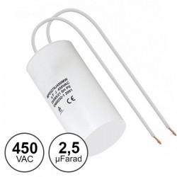 Condensador Arranque 2.5uf / 450v C/ Fios