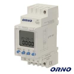 Temporizador Semanal Digital 16A 230V P/ Calha Din - Orno