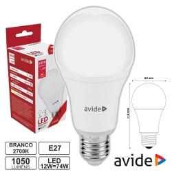 Lampada LED E27 12w 2700k 1050lm G60 Globo - AVIDE