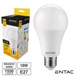 Lampada LED E27 18w 6400k 1550lm G60 Globo - Entac