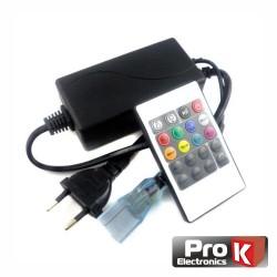 Controlador P/Fita De LEDs Rgb 220v C/ Comando - Prok